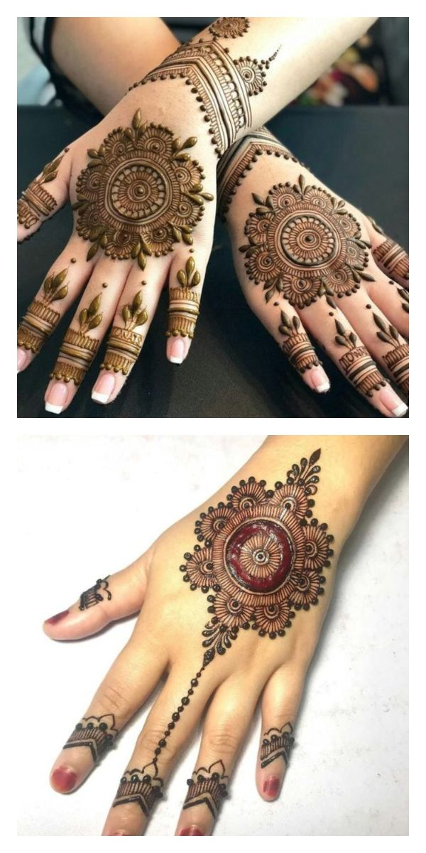 10 Small And Simple Round Mehendi Designs