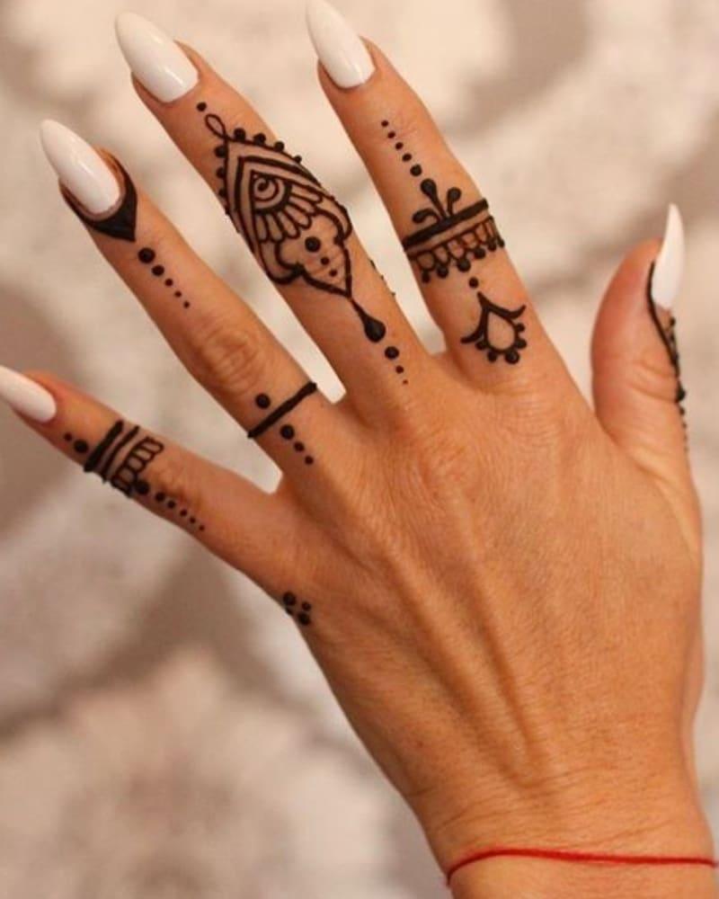 9 Unique Collections Of Finger Mehndi Designs