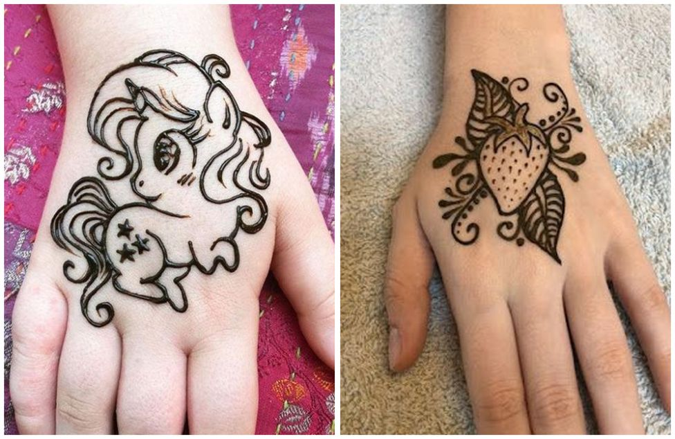 30 Easy And Simple Mehendi Designs For Kids
