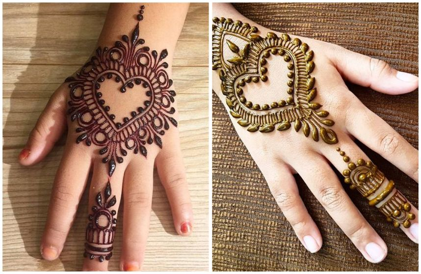 easy mehndi designs for kids to draw